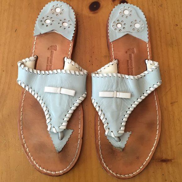 Stephen Bonanno Palm Beach Sandals Light blue with white trim. Stephen Bonanno Shoes Sandals