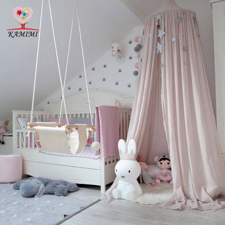 Kamimi 2017 Bambino Tenda Culla Rete Palazzo Dei Bambini Camera Da Letto tenda Hung Dome Mosquito Net Cotone Delle Ragazze Dei Capretti Manto Reti tende