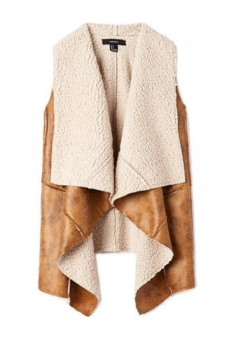 Southbound Faux Shearling Vest | FOREVER 21 - 2000125691