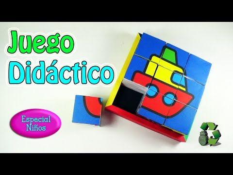 212. Manualidades: Juego didáctico para niños [Puzzle/Rompecabezas](Reci...