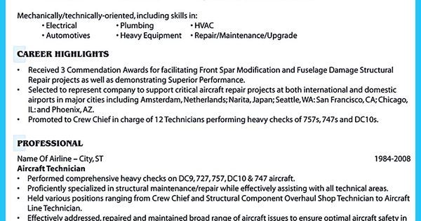 What Objectives to Mention in Certified Pharmacy Technician Resume - aircraft maintenance resume