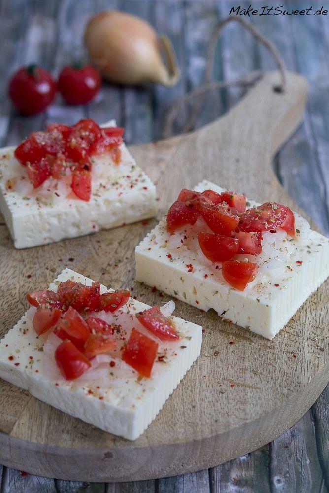 Zum Grillen Feta Tomate Zwiebeln Rezept Beilage vegetarisch einfach