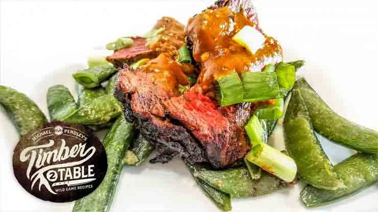 Grilled Venison Backstrap w/Spicy Peanut Sauce http://realtr.ee/9zt  Taking venison to next level! #Realtree #TimberToTable @mickypen70