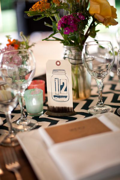 DIY table numbers // photo by m three studio