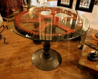 steampunk end table 17 best images about tables on industrial 694