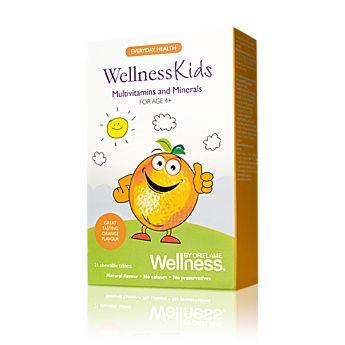 Kombinace 13 vitaminů a 8 minerálů pro děti od 4 let včetně. Tablety s přírodní pomerančovou příchutí lze rozkousat. Jedna tableta pokrývá potřeby dítěte ve věku 4-9 let a dvě tablety pokrývají potřeby dítěte ve věku 10-14 let. Doporučujeme užívat po jídle.