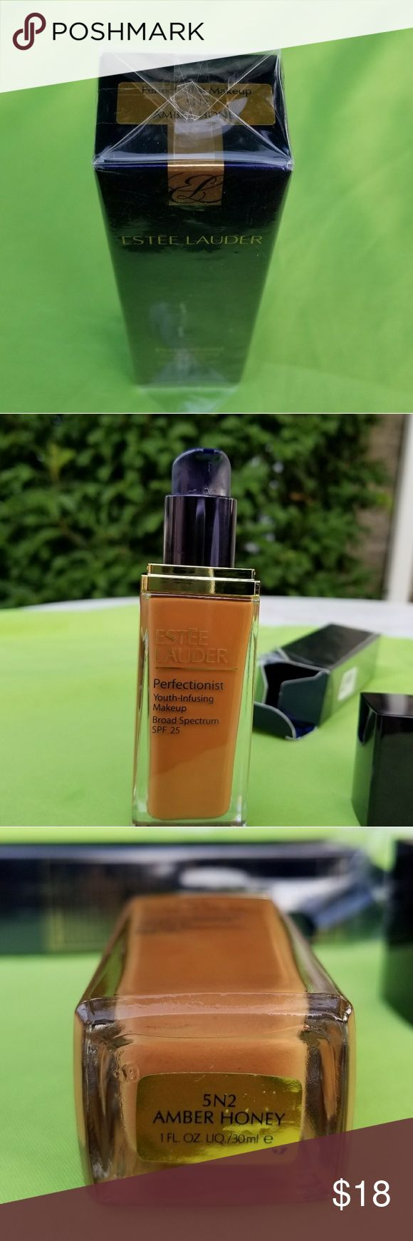 Estee lauder perfectionist youth-infusion makeup. New.                                                                                                        Estee lauder perfectionist youth-infusion makeup, broad espectrum SPF 25.   Shade : AMBER HONEY. Estee Lauder Makeup Foundation