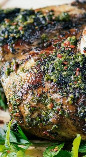 Chimichurri Chicken- after my amazing Brick Chicken with chimichurri this weekend at Verde in Miami, this is all I can think about