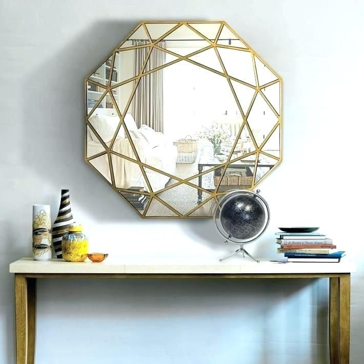 An Unexpected Color Pallete For Your Entryway Decor Octagon Mirror Frames On Wall