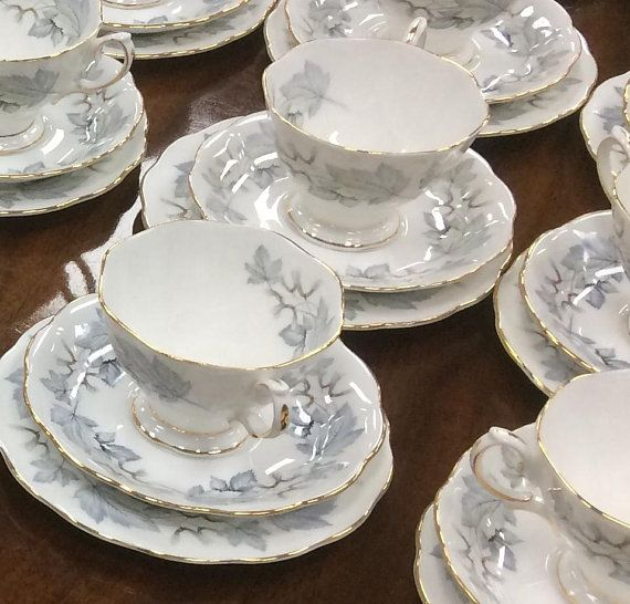 Description Royal Albert China British Made In England Tea Cup Saucer And Matching Side Tea Bread Butter Plate Vintage Tea Cups White Tea Cups Tea Cup Saucer