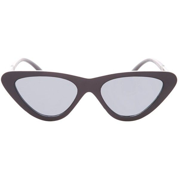 Topshop Polly '90s Pointy Polly Cateye Sunglasses (1,290 PHP) ❤ liked on Polyvore featuring accessories, eyewear, sunglasses, black, topshop sunglasses, retro style sunglasses, cat eye sunnies, cat eye glasses and retro glasses