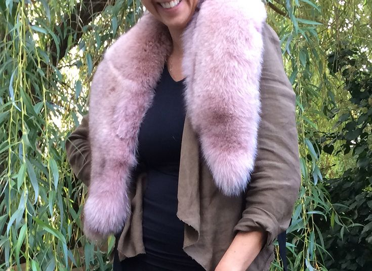 Pink Fox Fur Collar | Mink and Honey