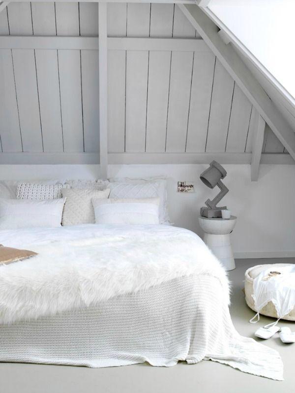 Mooie (zolder) slaapkamer