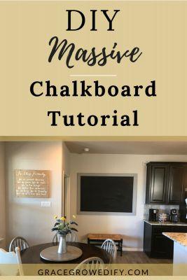 DIY Massive Chalkboard Tutorial | DIY Chalkboard | How to Large Chalkboard | Homeschool Chalkboard | DIY Vintage Chalkboard | Farmhouse Chalkboard | Large Chalkboard Tutorial | #chalkboard | #diy  | #diyproject