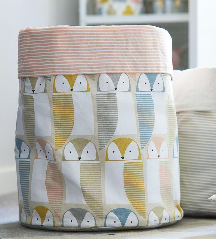 How To Style Nurseries | Barnie Owl Fabric by Scion | Jane Clayton