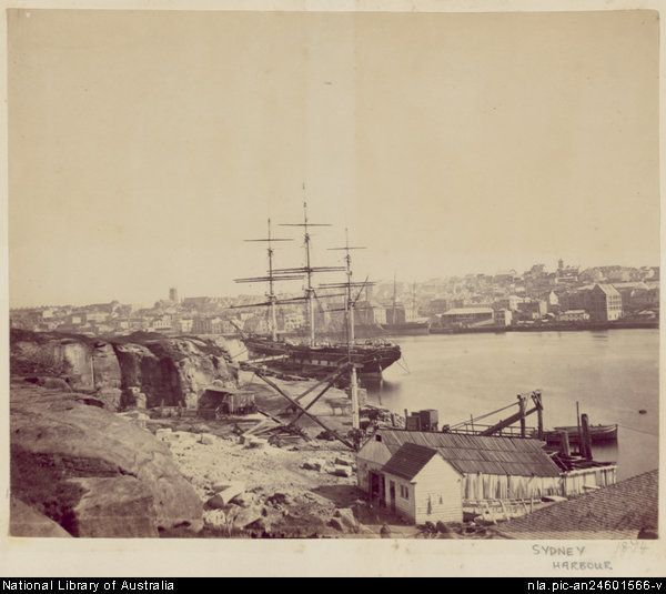 Sydney Harbour in 1874.Photo from National Library of Australia.A♥W