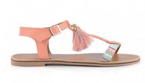 Superleuke, lente sandaaltjes - koraal roze