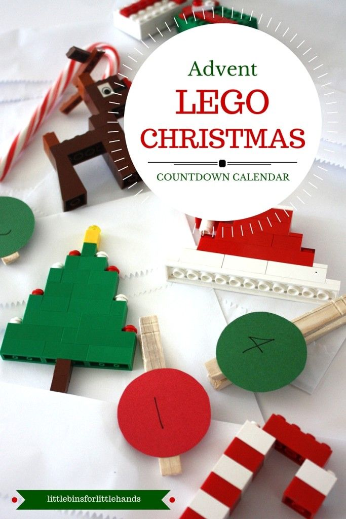 LEGO Advent Calendar Countdown to Christmas Idea