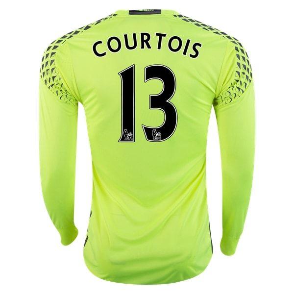adidas Thibaut Courtois Chelsea Long Sleeve Goalkeeper Jersey 16/17