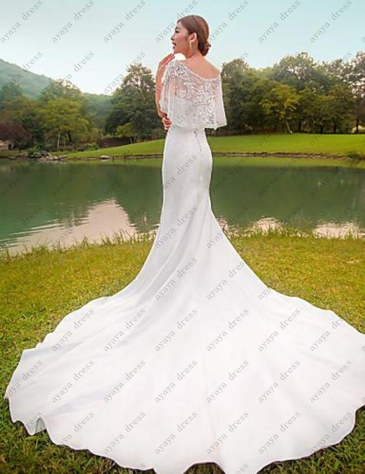 >> Click to Buy << wejanedress vestidos de novia sirena 2017 satin mermaid wedding dresses with jacket vestido de boda berta camo wedding dress #Affiliate