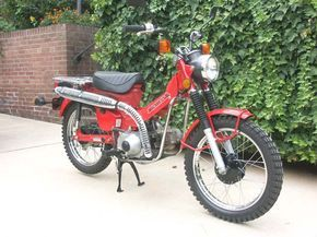 1980 Honda Trail CT110 Motorcycle for sale in Virginia 9/08 $1600: Right Hand Front View