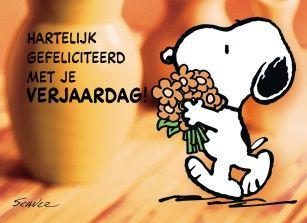 Snoopy kaart - snoopy-wenst-je-een-gezellige-verjaardag