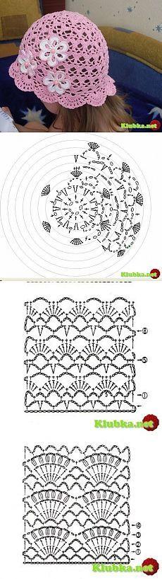 схема большого бантика крючком из пряжи