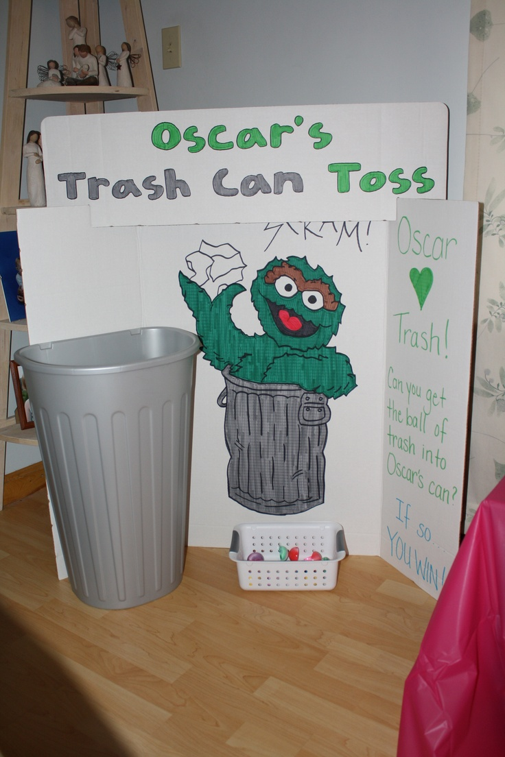 Sesame Street Oscar Game... Lol perfect game for a garbage mans child!
