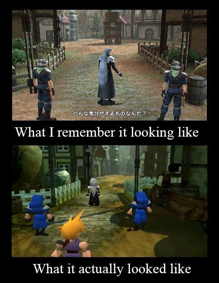 "When your memory played tricks on you: | 18 Hilarious Pictures That Are Perfect To ""Final Fantasy"" Fans"