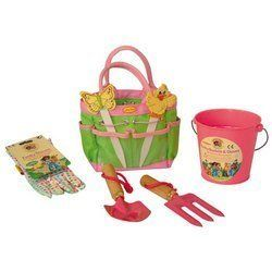 Children's Gardening Kit - Pink by lil. $24.80. Children's Gardening Tools Kit - PinkThe Little Pals Funky Gardening Tools set is a Children's Gardening Tools Kit! Containing a pink bucket, fork and trowel, seed markers, gardening gloves and handy bag, your kids can get excited about gardening and help you plant seeds!Why not get a vegetable patch going with sweet peas and carrots? Imagine picking your own veg and watching your children's eyes light up when they see those potat...