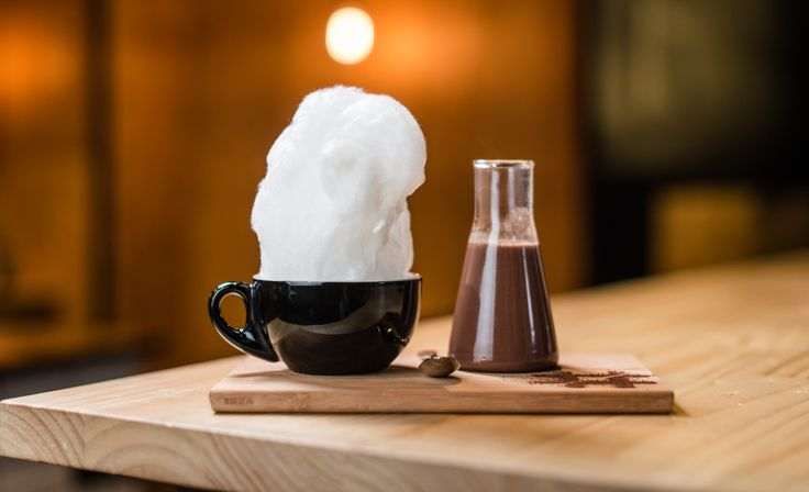 Yes, that's a fairy floss hot chocolate. Hash Specialty Coffee is open.