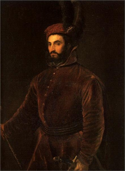 Portrait of Ippolito de Medici in a Hungarian Costume by Titian, 1532.