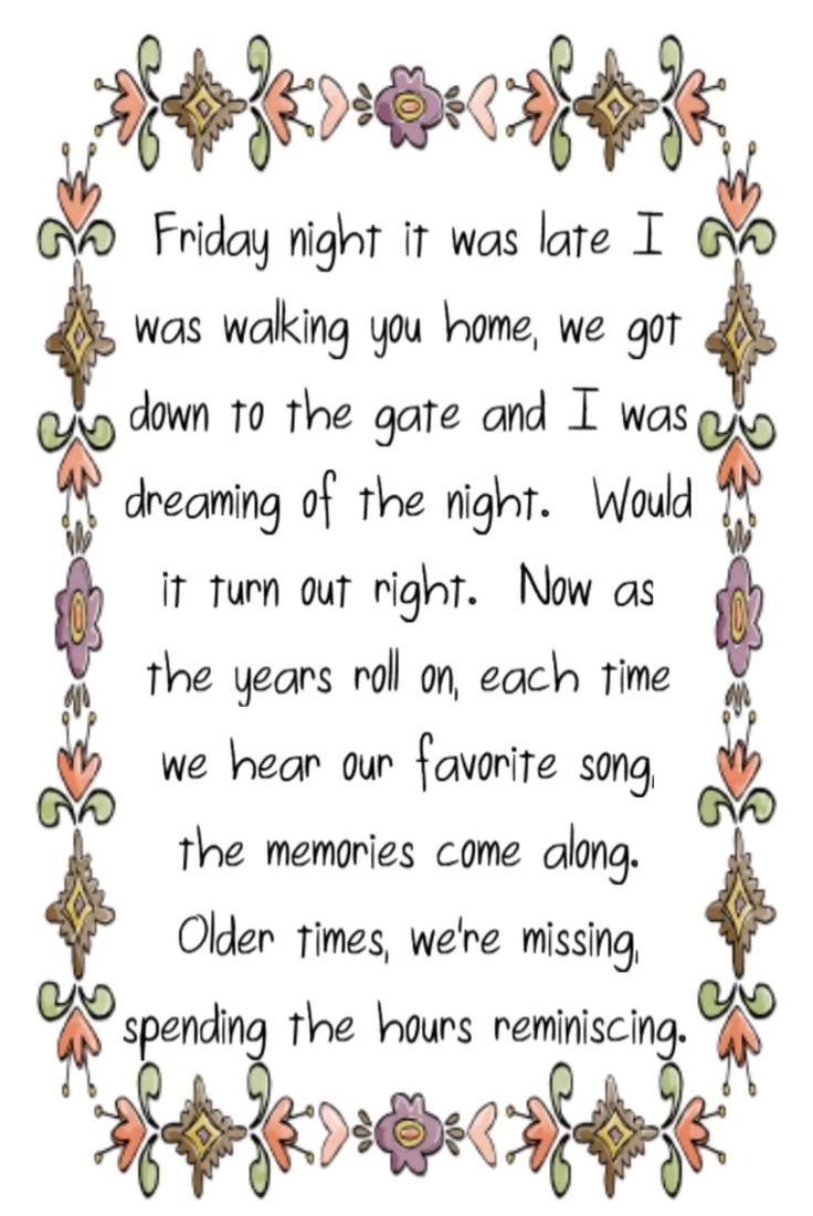 Little River Band - Reminiscing - song lyrics music lyrics