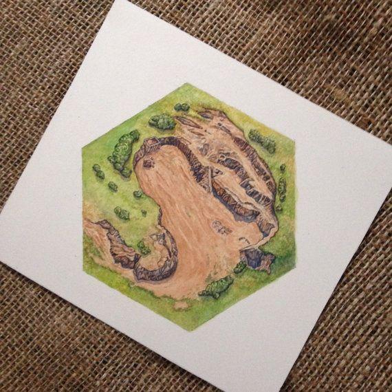 Die Siedler von Catan Brettspiels Kunst, Clay Hex Artwork für Ziegel - Einmaliges Geschenk für Catan-fan