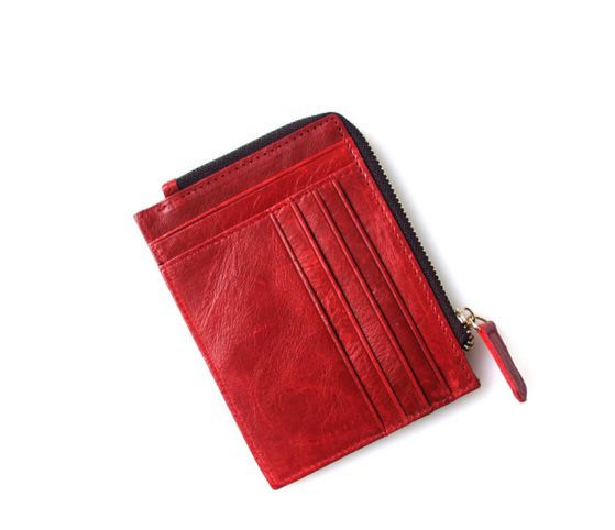Red Colour Cardholder with Coin Pocket