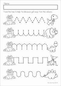 Dinosaur Preschool No Prep Worksheets Activities Vpk Dinosaurs