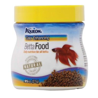 Aqueon Color Enhancing Betta Food Naturally Attracted Premium Ingredients .95 oz