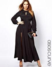ASOS Curve | ASOS CURVE Maxi Dress With Bell Sleeve at ASOS
