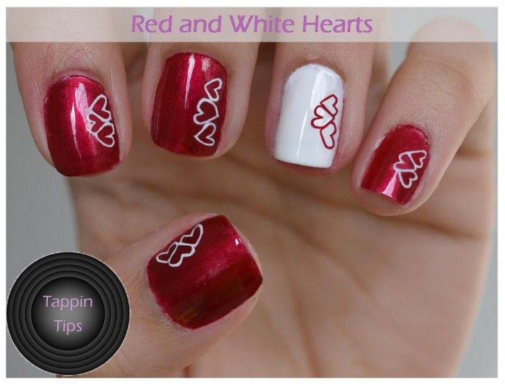 Valentineu0027s Day Art Work | Endearing Nail Art Designs For Romantic  Valentineu0027s Day.