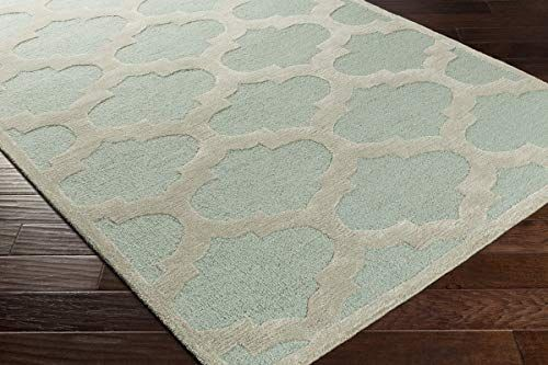 Contemporary Area Rug. Light Blue, Gray 8' Round in 2020
