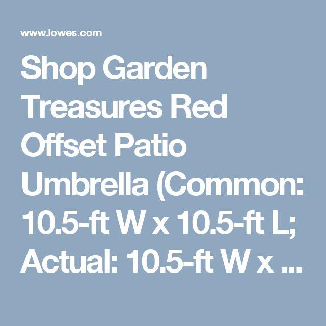 Shop Garden Treasures Red Offset Patio Umbrella (Common: 10.5-ft W x 10.5 - 25+ Best Ideas About Offset Patio Umbrella On Pinterest Offset
