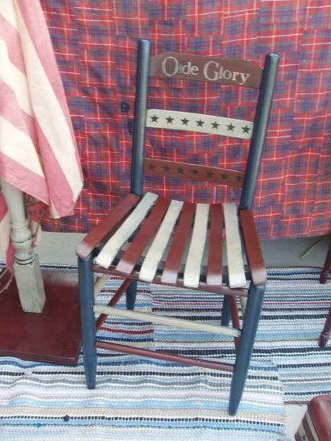 Paint an old chair up in the good ole Red, White & Blue!