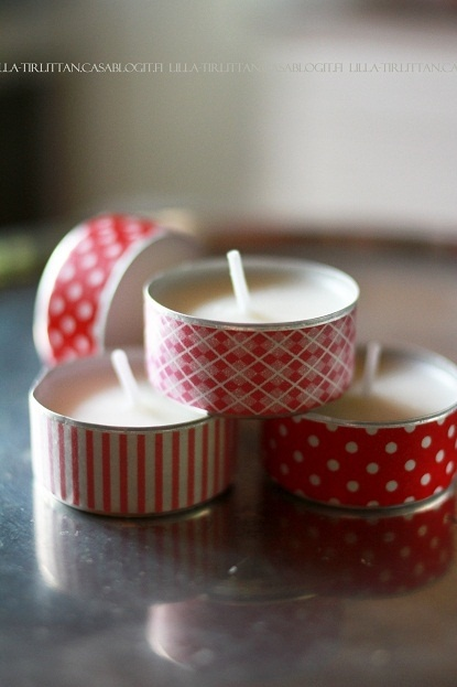 washi tape ~~ and tealight candles