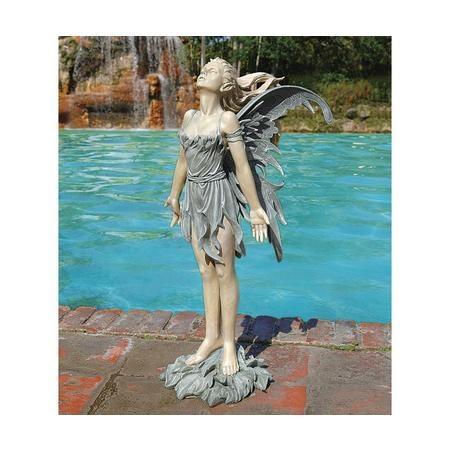 Celtic Fairyu0027s Perilous Perch Garden Statue   Fairy Outdoor Statues    Fairies   More Themes   Design Toscano