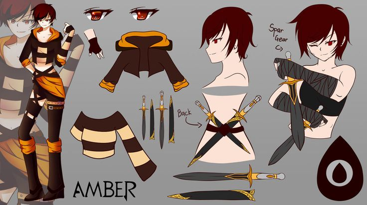 Character Sheet Commission: Amber by AnonymousBlank