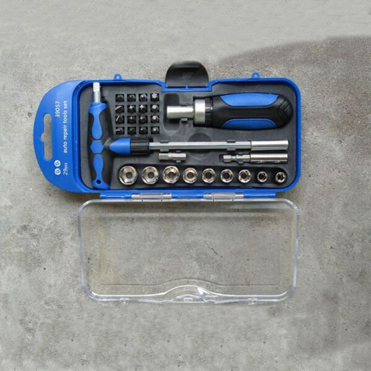 check price small size high quality 29pcs drive socket set carbon steel ratcheting socket wrench car #wrench #sizes