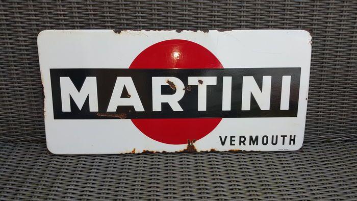 Online veilinghuis Catawiki: Martini Vermouth - Groot emaille bord - Langcat Bussum - jaren '50/'60