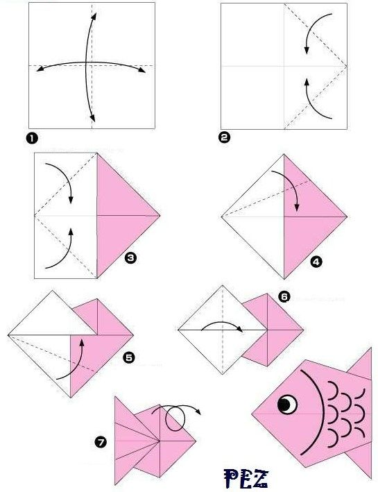 Origami paso a paso facil para niños animales - Imagui