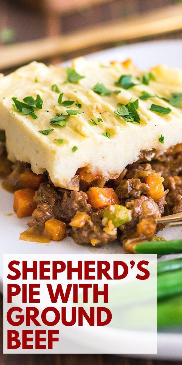 Easy Shepherd S Pie With Ground Beef Dinner For Two In 2020 Dinner With Ground Beef Beef Dinner Shepherds Pie