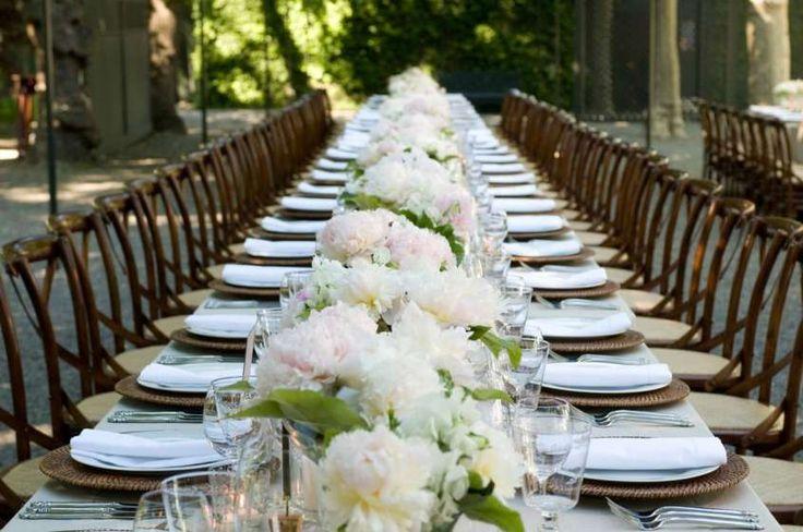Addobbi floreali e decorazioni per il ricevimento di nozze - Fiori bianchi